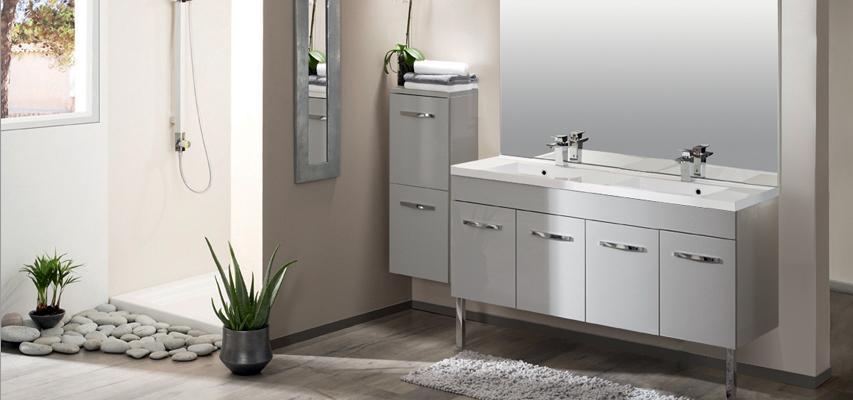 Meuble de salle de bain prefixe code portes aquarine pro for Meuble salle de bain porte et tiroir