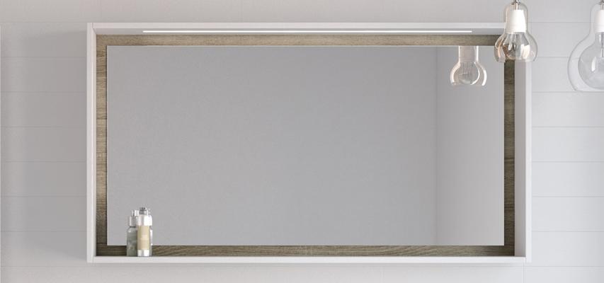 miroir cadre clairant avec tag re miroir cadre clairant avec tag re newport aquarine pro. Black Bedroom Furniture Sets. Home Design Ideas