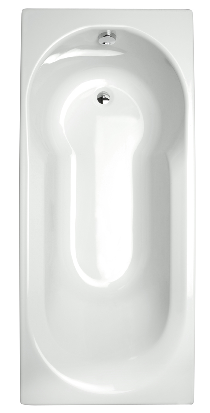 Baignoire bain douche rectangulaire twinside for Longueur baignoire standard