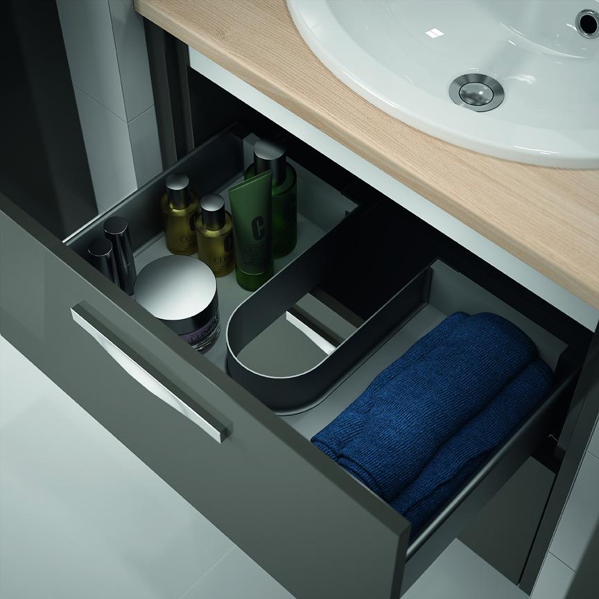 Meuble de salle de bain prefixe code tiroirs a suspendre for Amenagement tiroir salle de bain