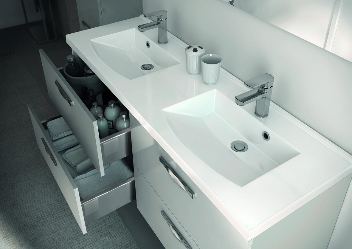 Meuble de salle de bain prefixe code tiroirs a suspendre for Meuble de salle de bain dimension