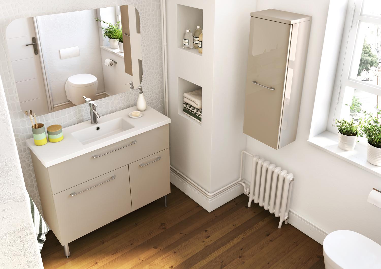 Colonne salle de bain gain de place salle de bains - Meuble de salle de bain gain de place ...
