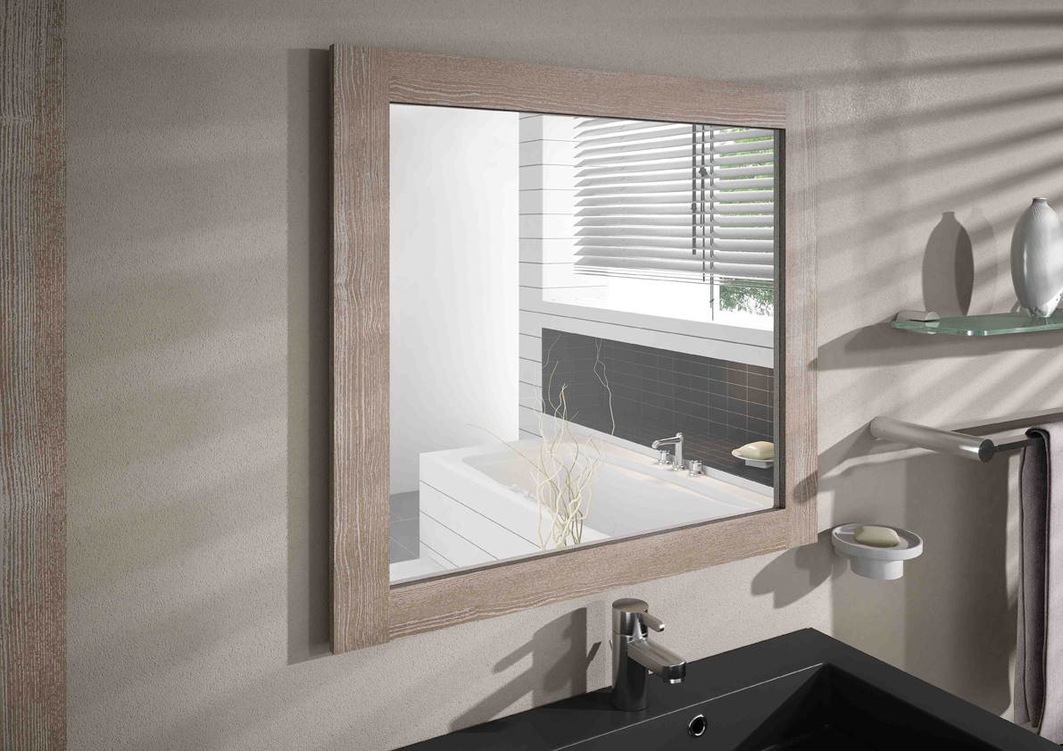 Meuble de salle de bain coventry aquarine pro for Miroir cadre bois salle de bain