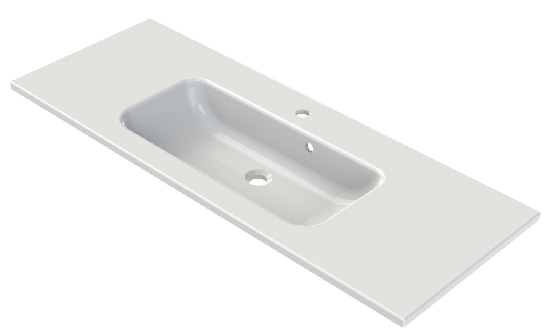 Plans de toilette en polyb ton plan de toilette sweet - Plan vasque 120 cm ...
