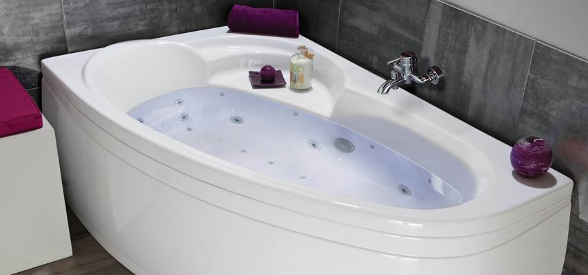 Baignoire d 39 angle baln o baignoire droite spa for Baignoire balneo asymetrique