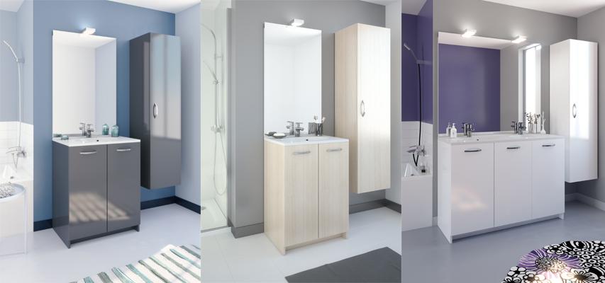 Meuble de salle de bain eko 39 line a poser aquarine pro - Meuble salle de bain aquarine ...