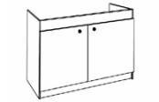 Sous-éviers meuble LEADER  2 portes 100 cm