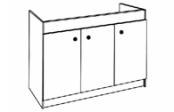 Sous-éviers meuble LEADER  3 portes 140 cm