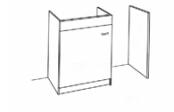 Sous-éviers meuble lave-vaisselle + jambage de 120 cm