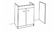 Sous-éviers meuble lave-vaisselle + jambage de 140 cm