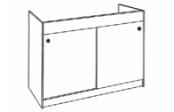 Sous-éviers meuble GALEA Hydrofuge 115 cm