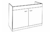 Sous-éviers meuble LIBERTY 2 portes 80 cm