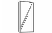 Miroir cadre alu 32,5 cm