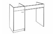 Sous-éviers meuble PMR 120 cm
