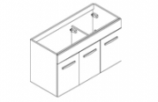 PREFIXE PORTES Meuble sous-plan toilette 105 cm