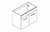 PREFIXE PORTES Meuble sous-plan toilette 80 cm