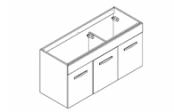 PREFIXE PORTES Meuble sous-plan toilette 120 cm