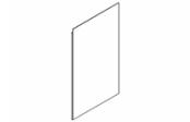 Miroir crédence 60 cm