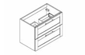 COVENTRY Meuble sous-plan de toilette 80 cm