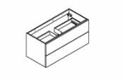 BROOKLYN A SUSPENDRE Meuble sous-plan de toilette 100 cm