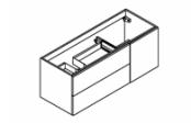 BROOKLYN A SUSPENDRE Meuble sous-plan de toilette 120 cm