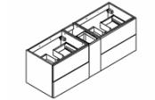 BROOKLYN A SUSPENDRE Meuble sous-plan de toilette 140 cm