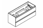 CONTRAST Meuble sous-plan de toilette 120 cm - Double vasque