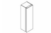 MINERAL Colonne 40 cm - Porte aménagée droite avec étagères, miroir et éclairage