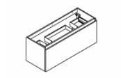 MINERAL Meuble sous-plan de toilette 120 cm - Double siphon