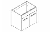 PREFIXE PORTES Meuble sous-plan toilette 60 cm