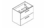 PREFIXE TIROIRS Meuble sous-plan de toilette 70 cm