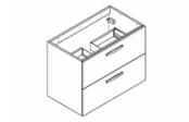 PREFIXE TIROIRS Meuble sous-plan de toilette 80 cm