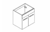 PREFIXE CODE PORTES Meuble sous-plan toilette 60 cm