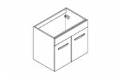 PREFIXE CODE PORTES Meuble sous-plan toilette 70 cm