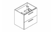 PREFIXE CODE TIROIRS A SUSPENDRE Meuble sous-plan toilette 60 cm
