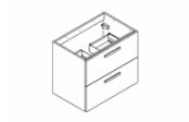 PREFIXE CODE TIROIRS A SUSPENDRE Meuble sous-plan toilette 70 cm