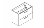 PREFIXE CODE TIROIRS A SUSPENDRE Meuble sous-plan toilette 80 cm