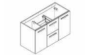PREFIXE CODE TIROIRS A SUSPENDRE Meuble sous-plan toilette 105 cm