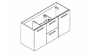 PREFIXE CODE TIROIRS A SUSPENDRE Meuble sous-plan toilette 120 cm