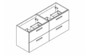 PREFIXE CODE TIROIRS A SUSPENDRE Meuble sous-plan toilette 140 cm