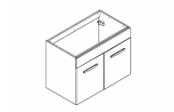 Préfixe code portes meuble sous-plan toilette 80 cm