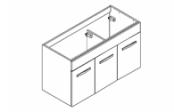 PREFIXE CODE PORTES Meuble sous-plan toilette 105 cm