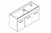 PREFIXE CODE PORTES Meuble sous-plan toilette 120 cm