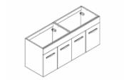 PREFIXE CODE PORTES Meuble sous-plan toilette 140 cm