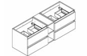 CONTRAST Meuble sous-plan de toilette 140 cm - Avec niche