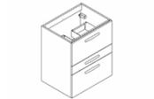 Préfixe Code tiroirs à poser meuble sous-plan toilette 60 cm