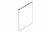Lumibloc Miroir crédence 80 cm, rampe d'éclairage au choix.