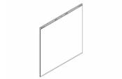 Lumibloc Miroir crédence 105 cm, rampe d'éclairage au choix.