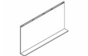 Lumibloc Miroir Tablette 140 cm, rampe d'éclairage au choix