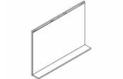 Lumibloc Miroir tablette 105 cm, rampe d'éclairage au choix